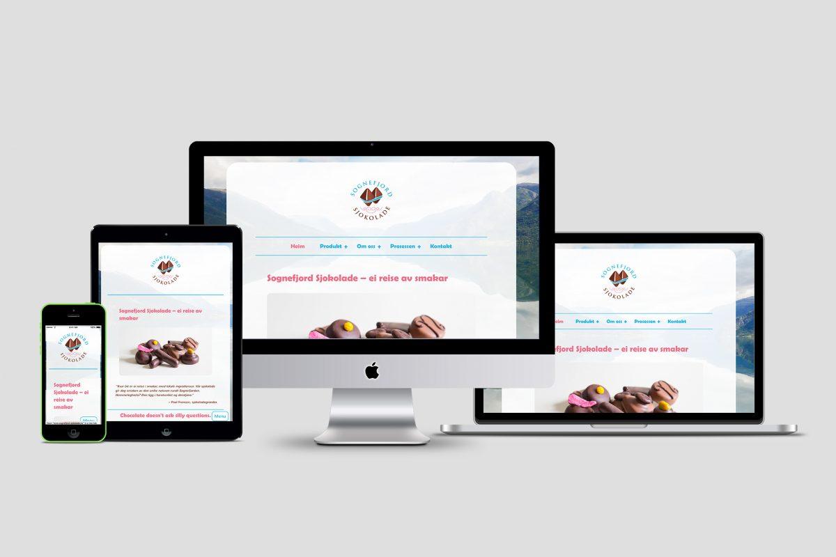 Sognefjord Sjokolade nettside